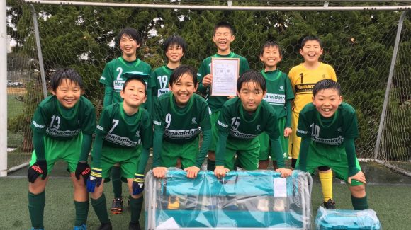 U-12 時之栖カップ 2位トーナメント優勝!